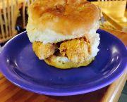 Fried Chicken Biscuit - Darrell's Seafood Restaurant