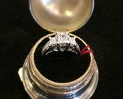 Vintage Asscher Cut Diamond Ring - Muzzie's Fine Jewelry & Gifts