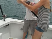 Fishing Taxi Sportfishing, Husband and wife spin a boat ride alone