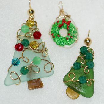 The Island Shop Boutique, Local Christmas Sea Glass Jewelry