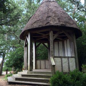 Gazebo in The Elizabethan Gardens located in Manteo, NC
