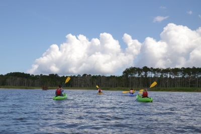 Kayaking Around Roanoke Island