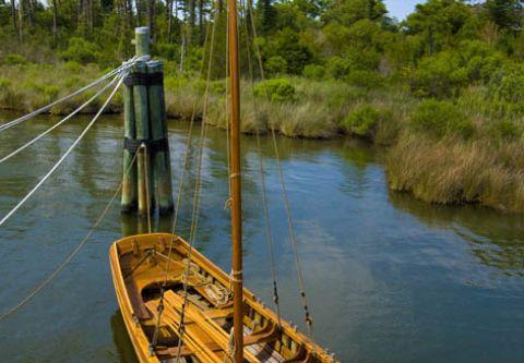 Roanoke Island Festival Park, Silver Chalice 16th Century Boat