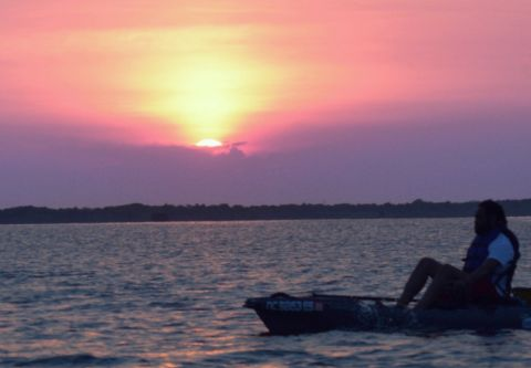 OBX on the Fly, Electric Kayak Bodie Island Sunset Cruise